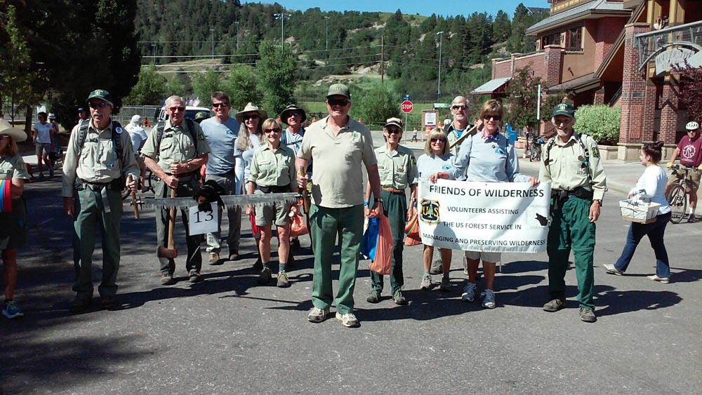 friends of wilderness volunteers at july 4th parade