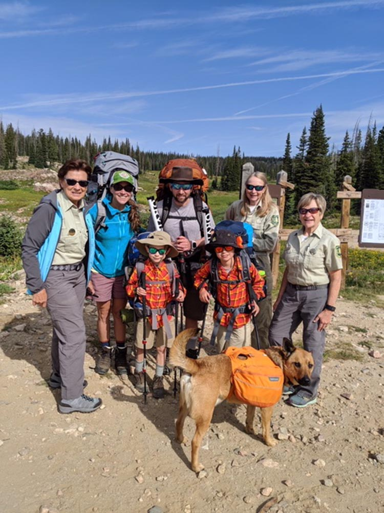 friends of wilderness volunteers at trailhead